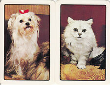 *Vintage Swap / Playing Cards - 2 SINGLE- CAT AND DOG