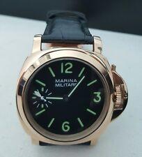 Marina Militare Men's Watch 44mm Luminor Homage - Mechanical Hand Winding - Rose