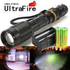 Police 6000 Lumens Led Flashlight 18650 Cree T6 XML Torch +Battery + Charger USA