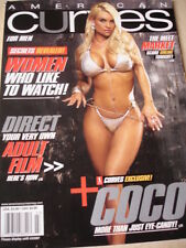 march 2007 AMERICAN CURVES #32 Coco sexy cover + Mandy Blank + Samantha Harris