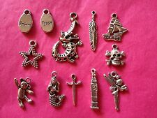 Tibetan Silver Mixed Peter Pan Themed Charms 12 per pack