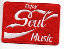 ENJOY SOUL MUSIC - New Iron on / Sew On Patch - NORTHERN SOUL R&B FUNK MODERN
