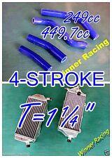 Aluminum radiator&4PCS BLU Silicone Hose YAMAHA YZ250F YZ450F 4-STROKE 2014-2017