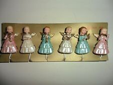 Vintage Plastic Angels with Musical Instruments set of 6