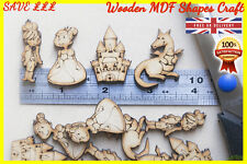 50 Wooden Fairy Tale shapes Craft Scrapbooking MDF Wood gift Prince Princess