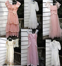 LOT Vintage 60s 70s Dresses Gowns Formal Dresses Prairie Gunne Sax Sizes 7,8,9