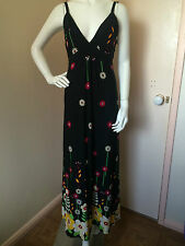 Womens Millers Black Floral Maxi Dress Size S