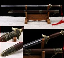 """Chinese Sword """"Taiji Sword"""" (劍)Hand Forge Stainless Steel Knife High Elasticity"""