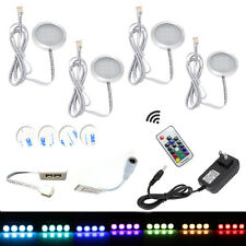 Aiboo Aluminium RGB 12V LED Under Cabinet Lighting 4X2W Dimmable with Rf Control