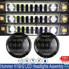"""2x 7""""Inch Round 150W Total CREE LED Projector Headlights DRL For Hummer H1 H2"""