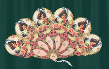 BOWS & ROSES VICTORIAN HAND FAN Greeting Card Fan!!!