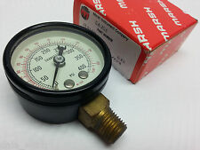 "New Marsh Instrument J1460M  air or hydraulic 400 PSI KPA shop gauge 2"" OD 1/4NP"