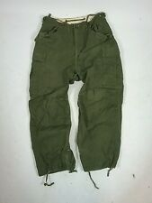 Vtg M-1951 US Army Korean War Field Trousers Cargo Pants 31x26 USMC Draw String