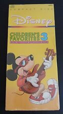 DISNEY Children's Favorites Vol. 3 CD With Full Color Sing Along Book New SEALED