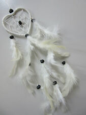 Nylon White Heart Shaped 6cm Web Coconut Beads Dream Catcher 41cm Total Length