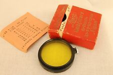 vintage Leica yellow  filter  for 35mm 50mm 105mm 135mm  with box