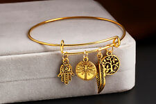 Dangle Cute Sun Love Dancing Party use Adjustable Bangle  Swing dragonfly