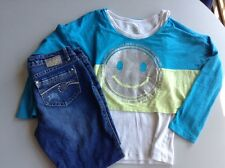 Justice Size 8 1/2 Jeans And Top Size 10 - SMILEY FACE