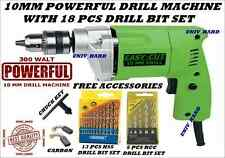 10MM POWERFUL DRILL MACHINE WITH 18 PCS DRILL BIT SET.