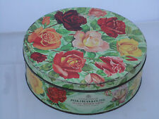 Vintage Peek Frean Biscuit Tin Rose Flower Design Collectors