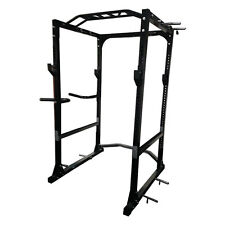 MUSCLE MOTION POWER RACK WITH DIP BARS, PULL / CHIN UP BAR, HIGHEST RATED RACK.