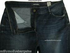 New Womens Marks & Spencer Blue Boyfriend Jeans Size 18 DEFECT
