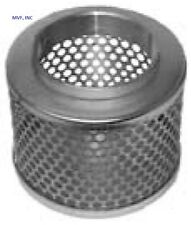 """STRAINER ROUND HOLE 6"""" FEMALE NPT PLATED STEEL SUCTION HOSE STRAINER  RHS6WH"""