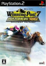 Used PS2 Winning Post7 MAXIMUM2007 Import Japan