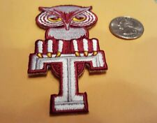 """Temple University owls vintage iron on embroidered patch 3.5"""" x 1.5"""""""