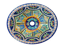 #124) MEDIUM 17x14 MEXICAN BATHROOM SINK CERAMIC DROP IN UNDERMOUNT BASIN