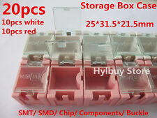 20pcs SMT SMD Kit Laboratory chip Components Mini plastic Storage Box Case