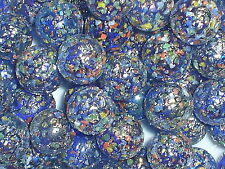 25 x 16mm GLITTER BOMB GLASS MARBLES  game play solitaire party bags