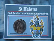 St Helena 1984 150th Anniversary commemorative Crown coin UNC Royal Mint folder