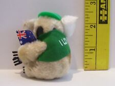 VINTAGE MINATURE CLIP ON KOALA BEAR GREEN I LOVE PERTH BEAR