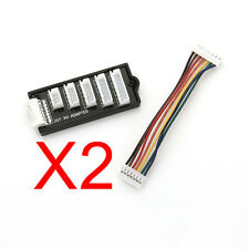 JST-XH 2 x Balance Board Adapter 2S 3S 4S 5S 6S Lipo Battery Charger JST XH UK
