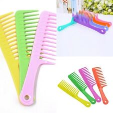 Hairdressing Salon Plastic anti-static handle wide Tooth Hair Comb Detangling