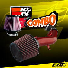08-10 Pontiac G6 2.4L With Air Pump Red Cold Air Intake + K&N Air Filter