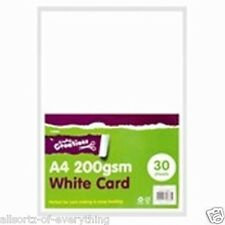 A4 Card Sheets Pack of 30 White Card 200gsm