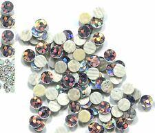 HOLOGRAM SPANGLES Hot Fix SILVER Iron on  2mm 1 gross