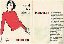 Publicité Advertising 1957 (2 pages) Les Tricots Rodier par René Gruau