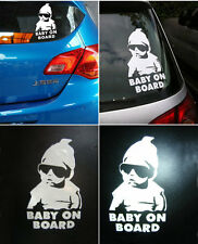 Funny Cool Baby on Board Vinyl Car Sticker with sunglasses Decal Sign Window C1