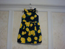 NWT JANIE AND JACK Hamptons Hideaway Girls Floral Pique Dress 6 Goldenrod