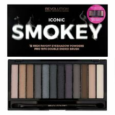 MAKEUP REVOLUTION Eyeshadow Palette - ICONIC SMOKEY- 12 Eyeshadow powders