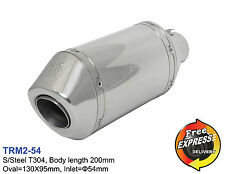 Motorcycle universal S/Steel T304 performance short exhaust muffler 54mm