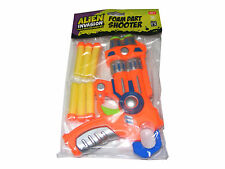CHILDRENS ALIEN INVASION PLASTIC TOY FOAM DART SHOOTER GUN WITH 6 FOAM DARTS