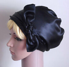 Black Satin Hair Bonnet, Bad Hair Day Head Wrap,Black Headscarf, Satin Tichel