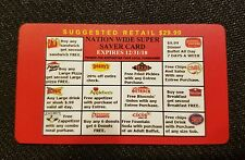 Reusable Restaurant Fast Food Fundraiser Discount Gift Card Expires 2018 B2G1