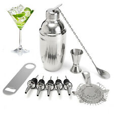 Set 11Pz 700ML Shaker Cocktail Drink Alcool Professionali in Acciaio per Barman
