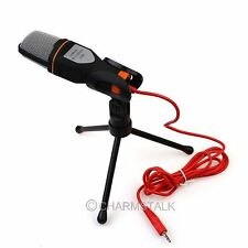 Condenser Sound Record Professional Microphone Mic+Stand for PC Laptop MSN Skype