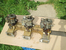 MAN-A-FRE Chevy 250/292 Intake Manifold 3x2 Rochester 2-Jet Carbs +++ Drag Race!